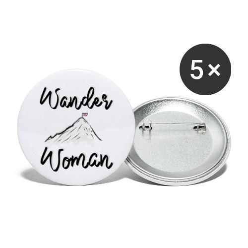 Wanderwoman - Buttons klein 25 mm (5er Pack)