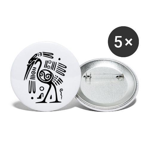 Kranich - Buttons klein 25 mm (5er Pack)