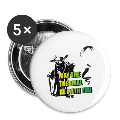 May the thermal be with you Gleitschirm Paraglider - Buttons klein 25 mm (5er Pack)