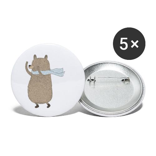 Fluffy Cuddle Bear by #OneCreativeArts - Buttons klein 25 mm (5er Pack)
