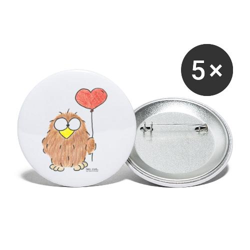 Niki Owl Amor/Love - Buttons small 1''/25 mm (5-pack)