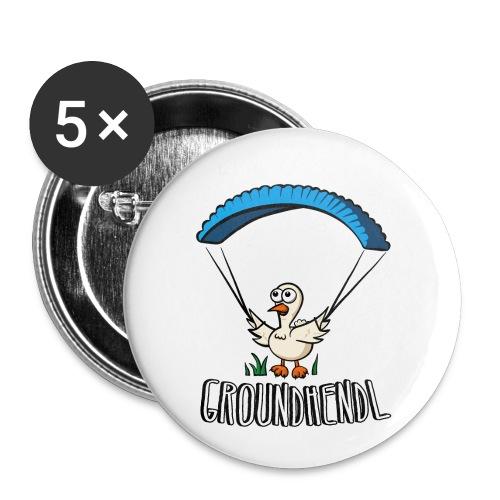 Groundhendl Groundhandling Hendl Paragliding Huhn - Buttons klein 25 mm (5er Pack)