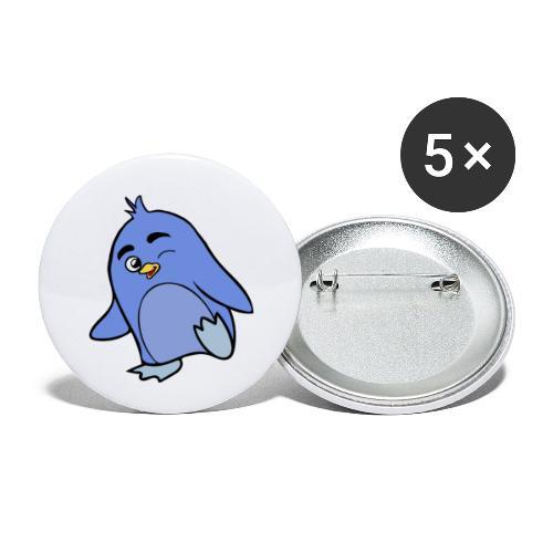 Pinguino - Confezione da 5 spille piccole (25 mm)