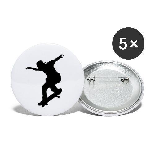 Skater - Confezione da 5 spille piccole (25 mm)