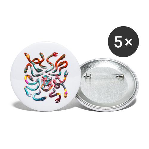 Medusa head - Små knappar 25 mm (5-pack)