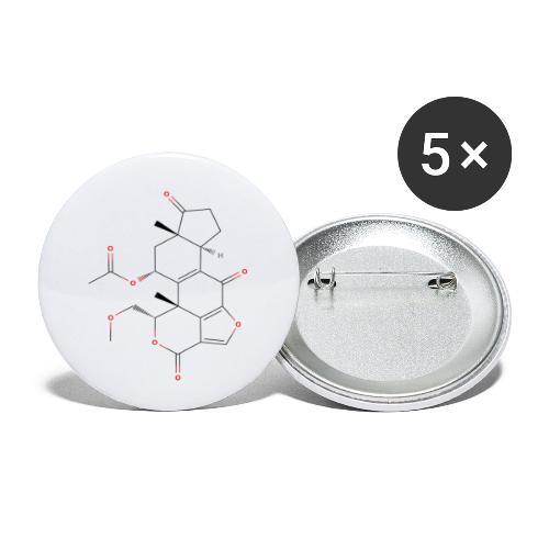 Wortmannin Molecule - Colored Structural Formula - Buttons/Badges lille, 25 mm (5-pack)