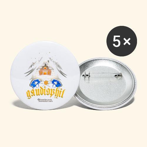 Apres Ski Sprüche Party T-Shirt Design gaudiophil - Buttons klein 25 mm (5er Pack)