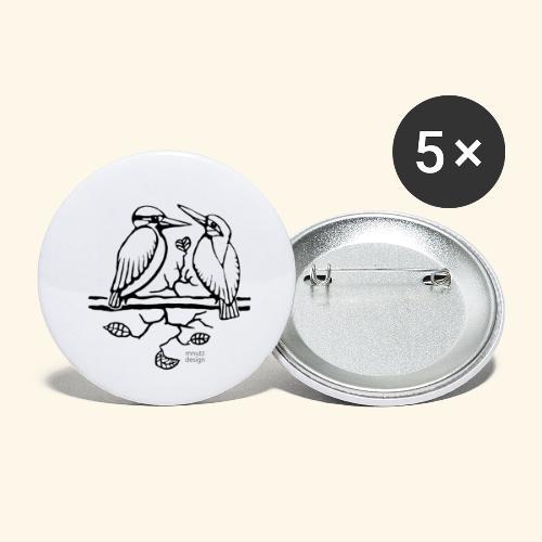 Eisvogel Liebe - Buttons klein 25 mm (5er Pack)