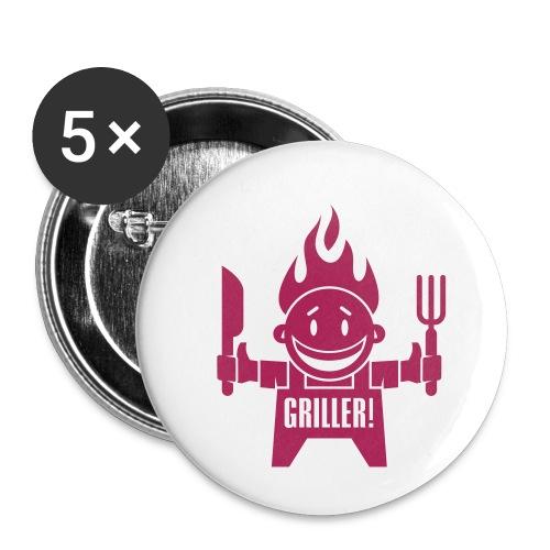 vl006_griller - Buttons klein 25 mm (5er Pack)