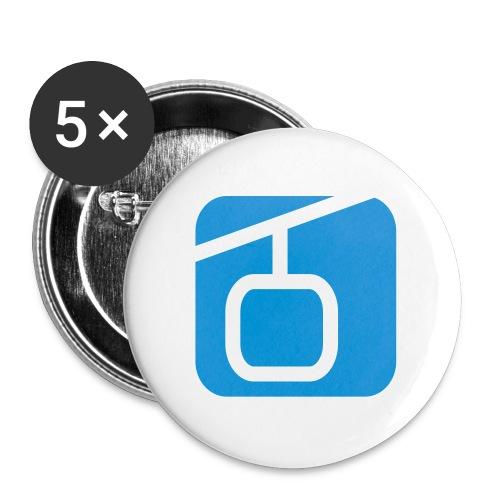 alpinforum logo 2011 shop klein 1c - Buttons klein 25 mm (5er Pack)