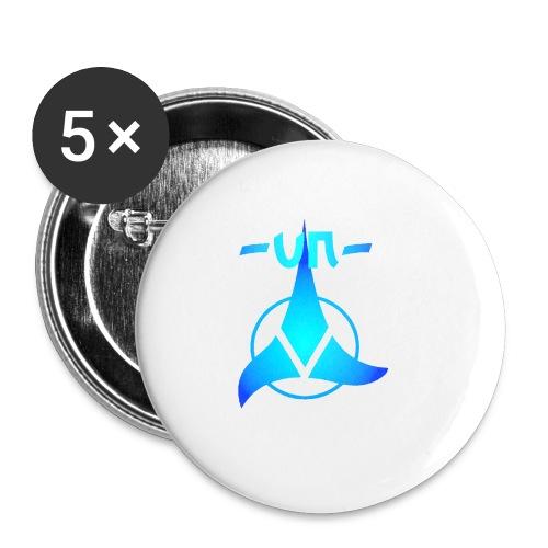 UNNICK Logo - Buttons klein 25 mm (5er Pack)