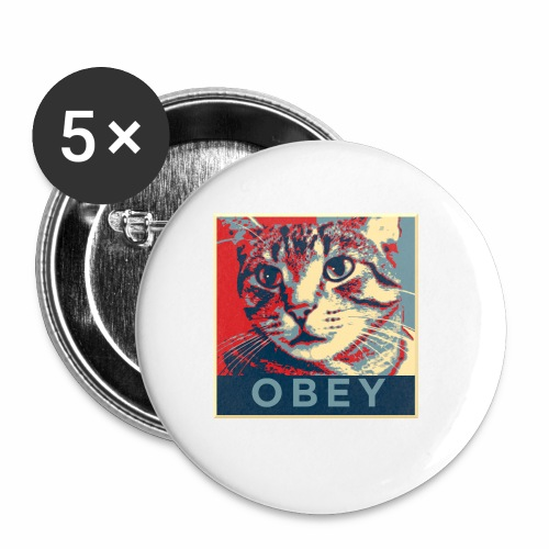 Obey the Cat! - Buttons klein 25 mm (5er Pack)
