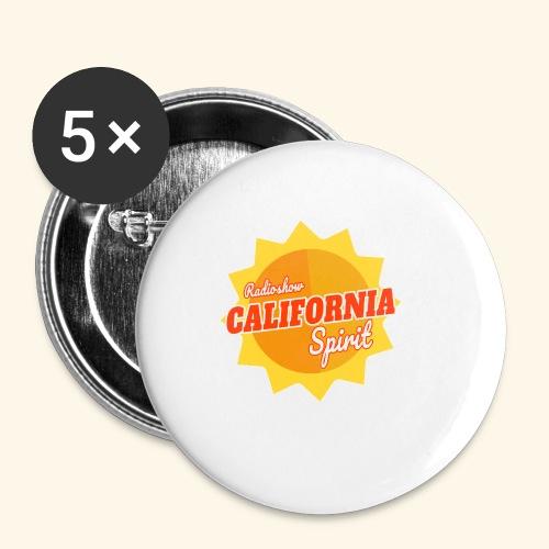 California Spirit Radioshow - Lot de 5 petits badges (25 mm)