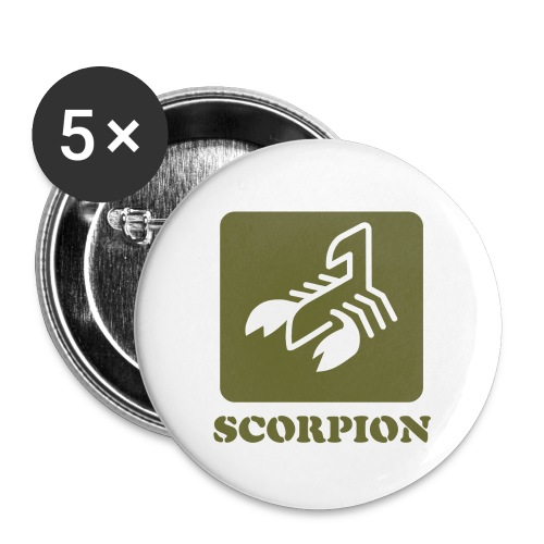 Logo Serie Escorpiones de Acero - Paquete de 5 chapas pequeñas (25 mm)