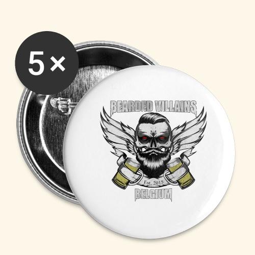 Bearded Villains Belgium - Buttons small 1''/25 mm (5-pack)