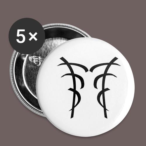 GBIGBO zjebeezjeboo - Oriental - Bambou [Flex] - Lot de 5 petits badges (25 mm)