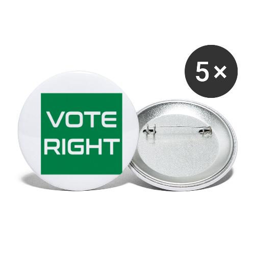 vote right - Buttons klein 25 mm (5er Pack)