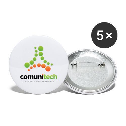 Comunitech - Confezione da 5 spille piccole (25 mm)