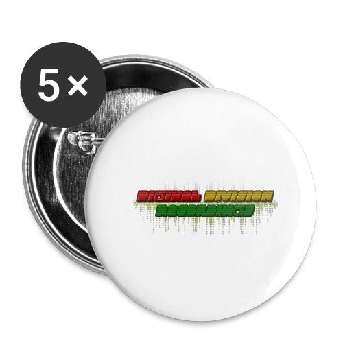 Digikal Division Recordings Logo - Buttons klein 25 mm (5er Pack)