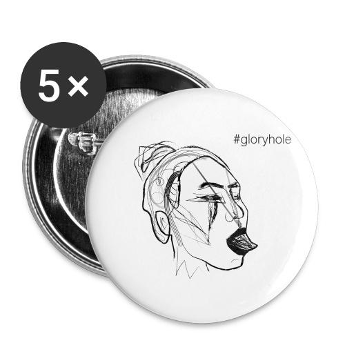 MOSKA - GLORY - Buttons klein 25 mm (5er Pack)