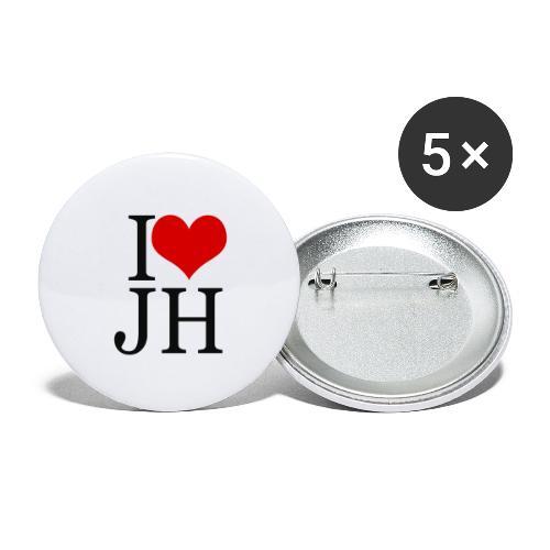 I Love JH 2 - Lot de 5 petits badges (25 mm)