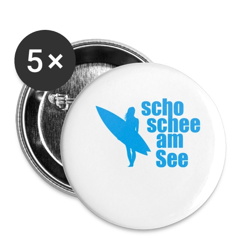 scho schee am See Surferin 03 - Buttons klein 25 mm (5er Pack)