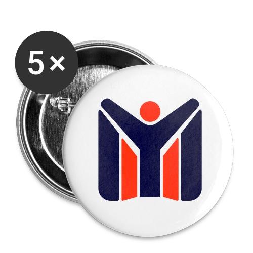 logo MYSC logo - Confezione da 5 spille piccole (25 mm)