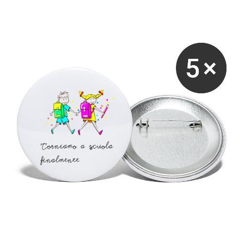 Bambini ritorno a scuola - Confezione da 5 spille piccole (25 mm)