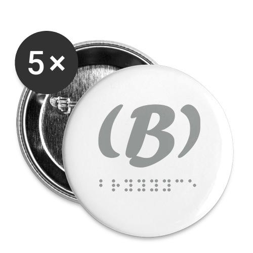LVET M'grey 1.0 - Lot de 5 petits badges (25 mm)