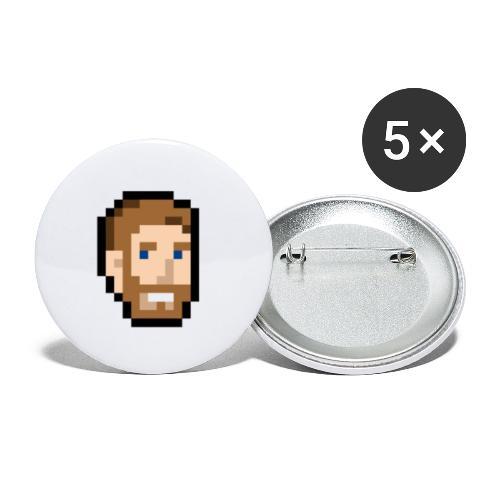 MitsuHead - Lot de 5 petits badges (25 mm)