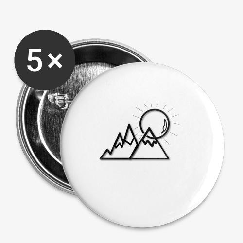 logo montagne - Lot de 5 petits badges (25 mm)