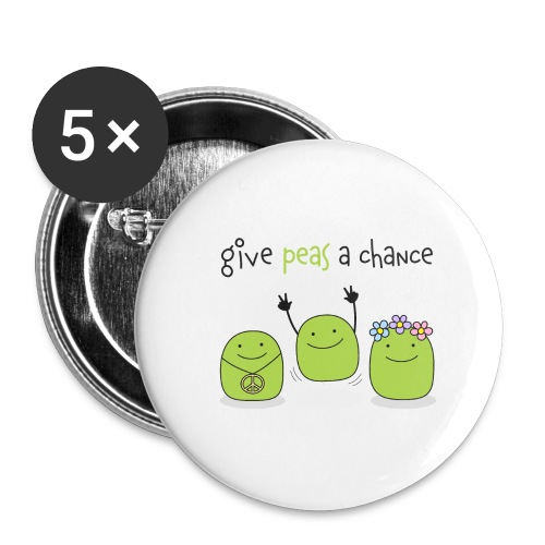 Give peas a chance! - Buttons klein 25 mm (5er Pack)