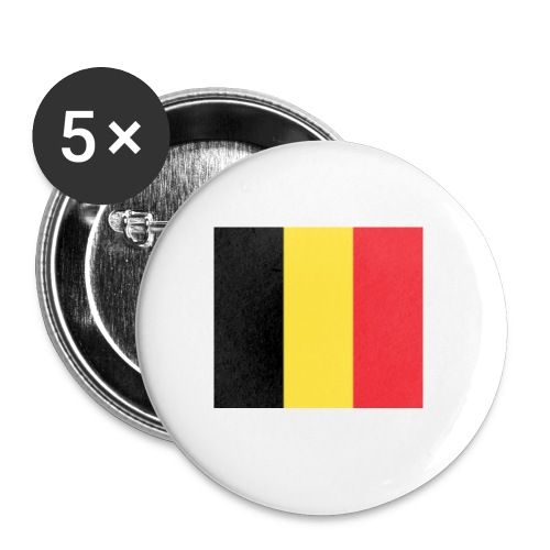 vlag be - Buttons klein 25 mm (5-pack)