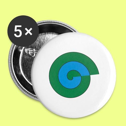 espiral color - Paquete de 5 chapas pequeñas (25 mm)