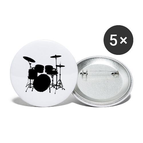 Bateria negro drums - Paquete de 5 chapas pequeñas (25 mm)