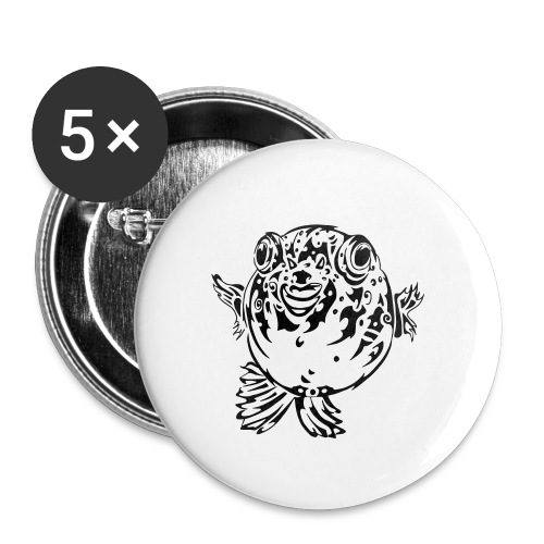 Puff the Blowfish - Buttons small 1''/25 mm (5-pack)