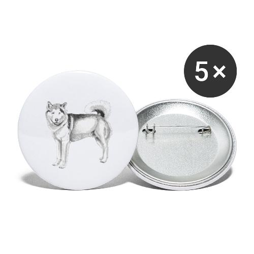 alaskan Malamute - Buttons/Badges lille, 25 mm (5-pack)