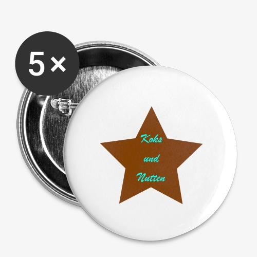Koks und Nutten - Buttons klein 25 mm (5er Pack)
