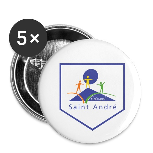Blason - Lot de 5 petits badges (25 mm)