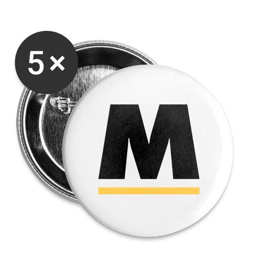 motpol5 - Små knappar 25 mm (5-pack)