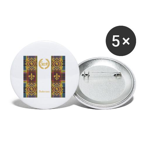 anderson clan - Buttons klein 25 mm (5er Pack)