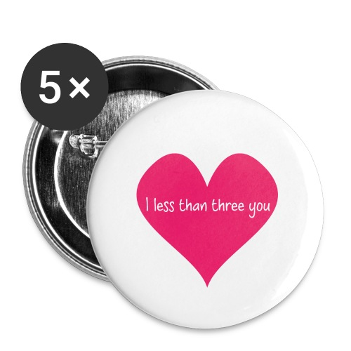 Less than three - Buttons small 1''/25 mm (5-pack)