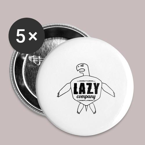 Lazy company - Lot de 5 petits badges (25 mm)