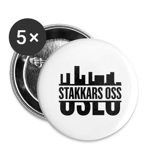 stakkars oss logo 2 ny - Liten pin 25 mm (5-er pakke)