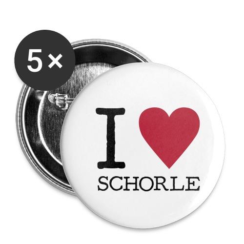 SchorleLiebe - Buttons klein 25 mm (5er Pack)
