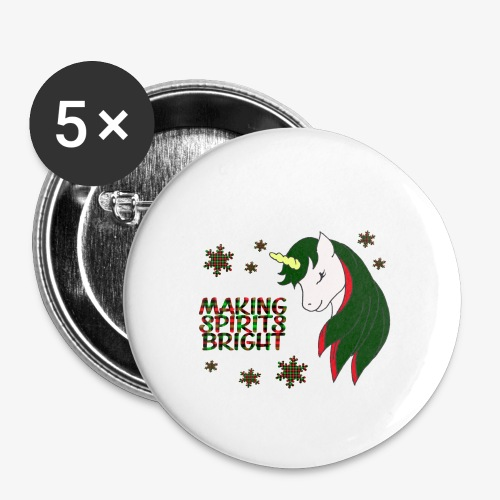 Unicorn making bright spirit - Buttons small 1''/25 mm (5-pack)