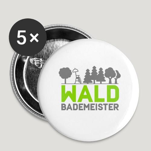 Waldbademeister für das Waldbaden im Waldbad - Buttons klein 25 mm (5er Pack)