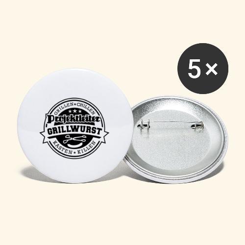 Grill T Shirt Projektleiter Grillwurst - Buttons klein 25 mm (5er Pack)