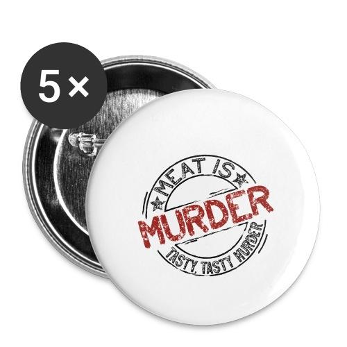 Meat is murder dunkel - Buttons klein 25 mm (5er Pack)