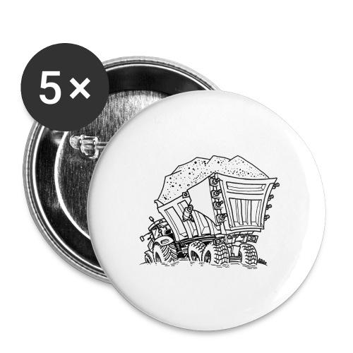 0956 trekker kar ZAND - Buttons klein 25 mm (5-pack)